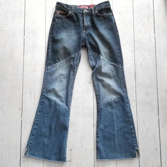 Hot Kiss Denim - Patchwork flared leg jeans 60's 70's Boho Hippie